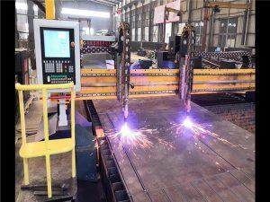 Dvojni pogon Gantry CNC stroj za rezanje plazme H Izvedba linije Hypertherm CNC sistem