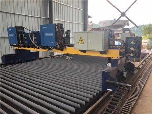 Dvojni pogon Gantry CNC plazemski rezalni stroj za rezanje trdega jekla H proizvodne linije