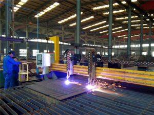 Gantry CNC plazemski rezalni stroj in stroj za rezanje plamena na jekleni plošči