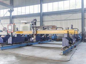 Inteligentni stroji za rezanje kovinskih plošč s cnc avtomatskimi stroji za rezanje plazme in plamena