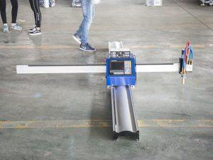Nova tehnologija prenosni tip cnc stroj za plazemsko rezanje cena mala podjetja za izdelavo strojev